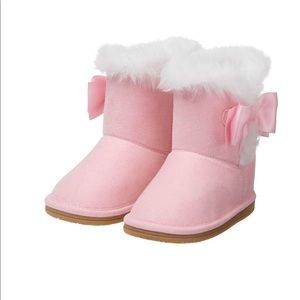 NWOT Pink Furry Boots